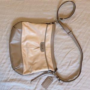 Coach Park Leather Punch Pink Medium Purse Bag